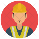 Construction Worker Man Icon