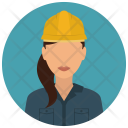 Construction Worker Woman Icon
