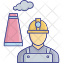 Worker In Factory Factory Worker Production Line Worker Icon