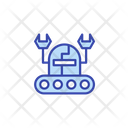 Worker robot Icon