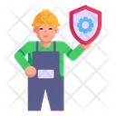 Worker Safety Icon