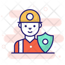 Worker Security Worker Insurance Worker Protection Icon