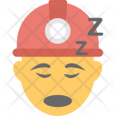 Worker Sleeping Construction Icon