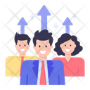 Employees Growth Workers Growth Career Growth Icon
