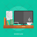Workflow Workspace Coffee Icon