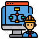 Computer Engineer Workflow Icon