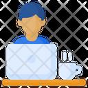 Working Worker Man Icon