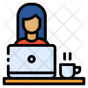 Working Worker Woman Icon