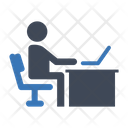 Working Office Computer Icon