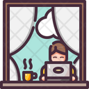 Coffee Home Laptop Icon
