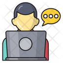 Working Online Support Icon