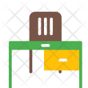 Working Table Chair Icon