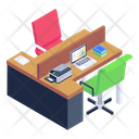 Office Working Area Place Of Work Icon