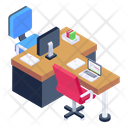 Workplace Office Area Working Area Icon