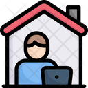 Working At Home Icon