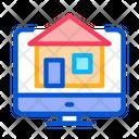 House Computer Display Icon