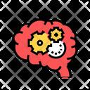 Working Thinking Brain Icon