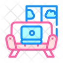 Working Couch Color Icon