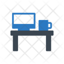 Desk Computer Lcd Icon
