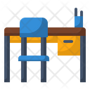 Chair Desk School Icon
