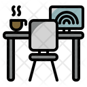 Working Desk Cafe Coffee Icon