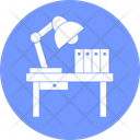 Working Desk Study Table Books Icon