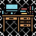 Desk Interior Workplace Icon