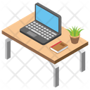 Laptop Office Desk Workplace Icon