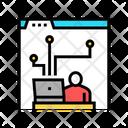 Working Developer Developer Working Icon