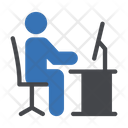 Office Working Employee Icon