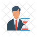 Working Hours Hourglass Stopwatch Icon