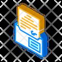 Envelope Message Isometric Icon