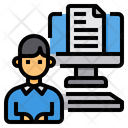 Working Document Computer Icon