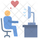 Working Love Happy Icon