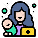 Working Mother Mother Baby Icon