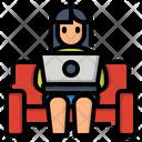Work Sofa Labtop Icon