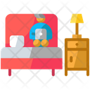 Working On Bed Icon