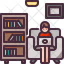 Working On Sofa Icon