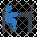 Working Laptop Employee Icon
