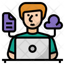 Working Online Online Work Remote Working Icon