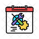 Working Optimize Work Schedule Time Management Icon