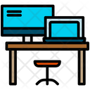 Table Computer Working Place Icon