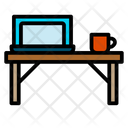 Computer Working Place Laptop Icon
