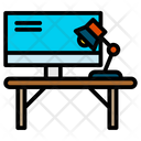 Working Place Laptop Desk Icon