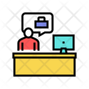 Employee Working Place Icon
