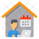 Working At Home Planner Calendar Icon