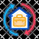 Case Home Circle Icon
