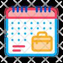 Remote Work Calendar Icon
