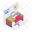 Office Room Working Space Workroom Icon