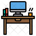 Desk Work From Home Studio Icon